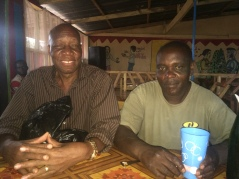 James Woods and Simon Karanja enjoying a Club Beer